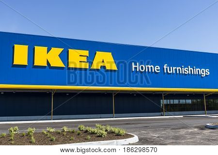 Fishers - Circa May 2017: IKEA Home Furnishings Store. Founded in Sweden IKEA is the world's largest furniture retailer VI