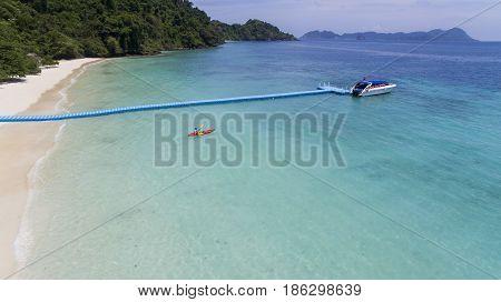 aerial view of nyang oo phee island sea beach most popular traveling destination in myanmar