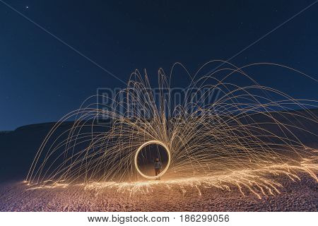 example of creative long exposure & light and photo