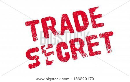 Trade Secret rubber stamp. Grunge design with dust scratches. Effects can be easily removed for a clean, crisp look. Color is easily changed.
