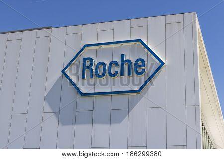 Indianapolis - Circa May 2017: Roche Diagnostics U.S. Headquarters. Roche Diagnostics is a Global Leader in Healthcare IV