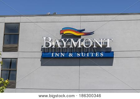 Fishers: Circa May 2017: Baymont Inn & Suites Hotel. Baymont Inn is a hotel franchise owned by Wyndham Worldwide I