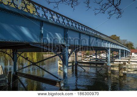 Cookham UK - 15th March 2017: The bridge at Cookham Berkshire UK.