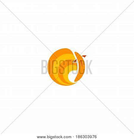 Goldfish Logo Golden Fish Round Emblem For Seafood Restaurant Or Fish Shop, Aquarium Animal Circle I