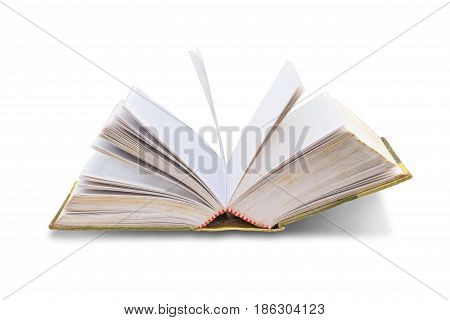 old book openisolated on white background with clipping path.