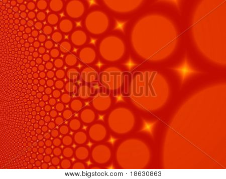 Fractal image of abstract lava bubbles for a background.