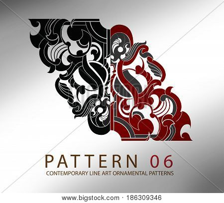 Contemporary Line Art ornamental Pattern. Inspired from line art from east and west world It's available in vector file (.ai) for multi-purposed use *included using example