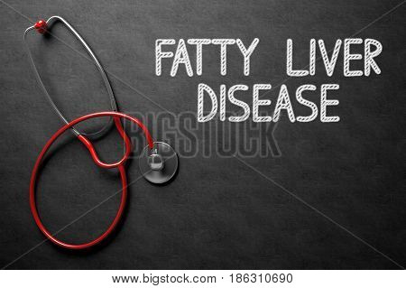 Medical Concept: Fatty Liver Disease on Black Chalkboard. Medical Concept: Fatty Liver Disease - Medical Concept on Black Chalkboard. 3D Rendering.