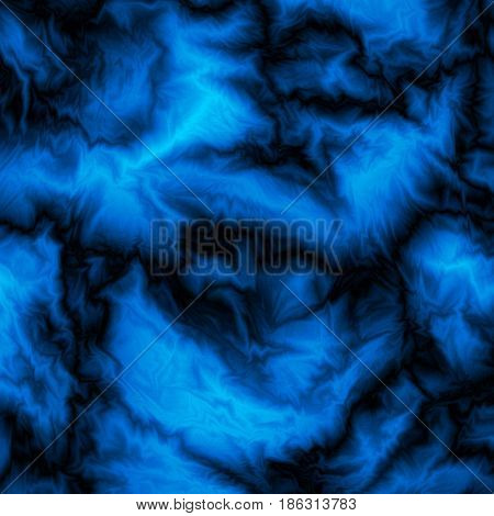 Blue abstract marble background, futuristic fabric, silk texture with ambient occlusion effect for design concepts, wallpapers, presentations, web and prints. Vector illustration.