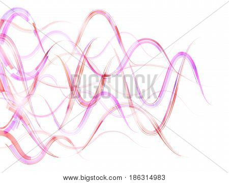 Abstract bend stripes in form of horizontal waves. Combination lines and ribbons for abstract background. Best vector illustration for various design illustration art decor etc