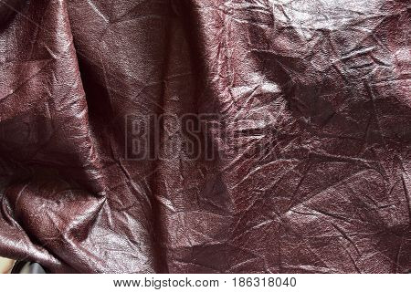 Surface of brown leatherette texture for background