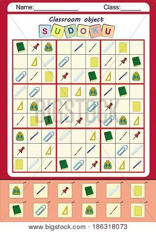 picture sudoku for kids, fine motor worksheet, homework