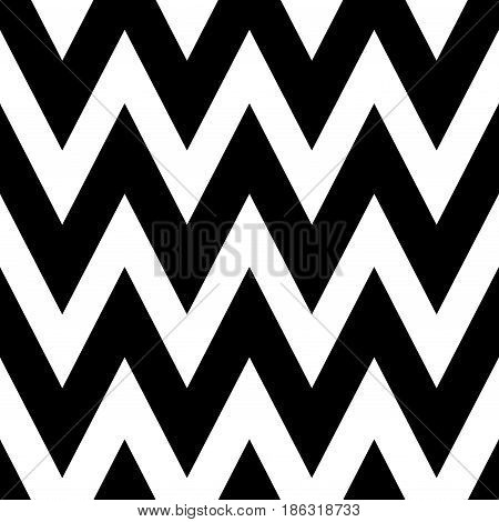 Zigzag seamless pattern. Classic chevron geometric wave. Seamless background with horizontal black stripes in zigzag