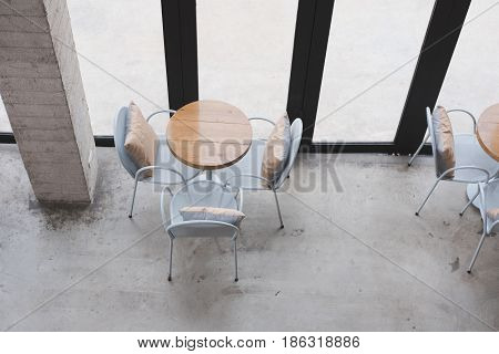 Table And Chair In Food Court, Cafe, Coffee Shop, Restaurant Interior