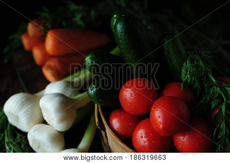 Spring and summer vegetables to your table. Healthy eating. Vegetarian food.Low calories
