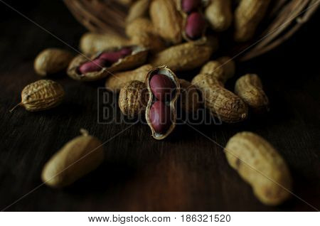 Delicious and healthy nuts. Vegetarian food. Calorie food.