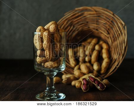Delicious and healthy nuts. Vegetarian food. Calorie food