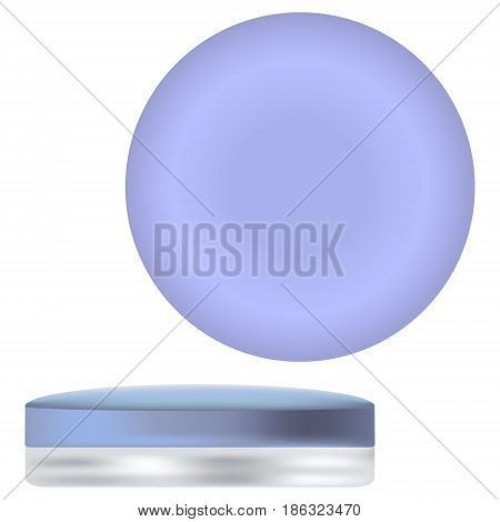 3 D photorealistic round blue jar sample