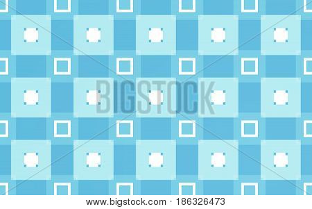 Blue rectangles pattern background and abstract textile