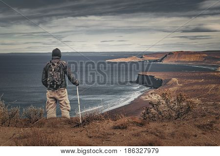 Man At Highs Contemplating The Landscape