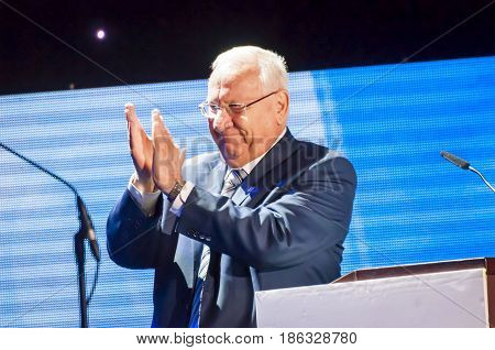 JERUSALEM, ISRAEL. May 4, 2017. President of Israel Reuven