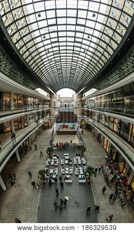 BERLIN - NOVEMBER 30 2015: The new shopping center