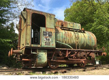 Hulshorst, The Netherlands - May 14, 2017: Krupp Fireless Steam Accumulator Locomotive standing at rest in the city of Hulshorst.