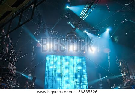 Rock concert, white screen isolated. Musical concert