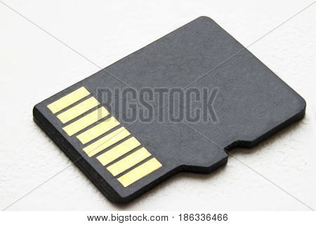 micro sd card on a white background