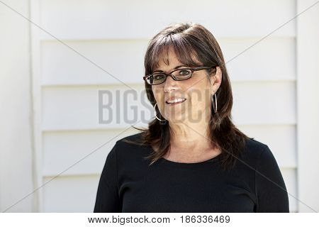 Middle Aged Woman Wearing Glasses
