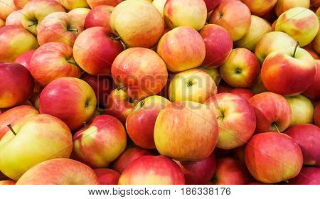 Background of fresh red apples. Fresh apples