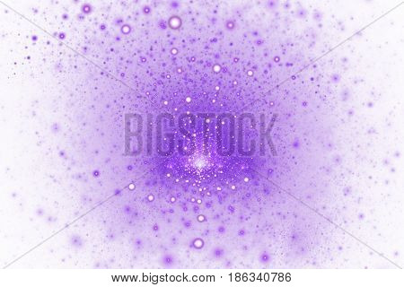 Fiery Splash. Abstract Colorful Pink And Purple Sparks On White Background. Fantasy Fractal Texture