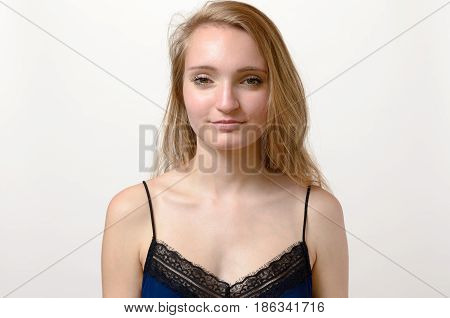Pretty Young Woman With Blond Hair