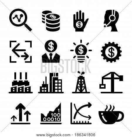 Finance Stock Exchange icon set vector illustration graphic design