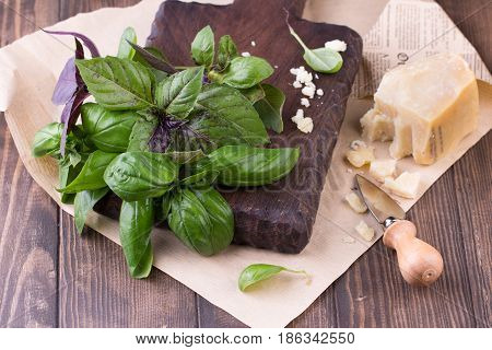 Ingredients For Pesto Genovese Sauce