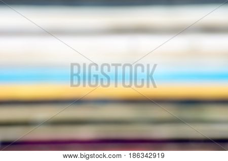 Blurred close-up of old vinyl LP records stack bacground
