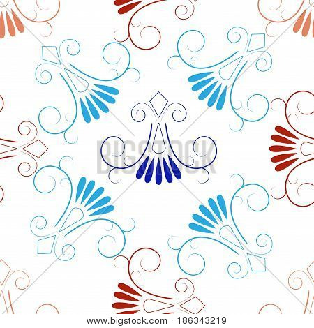 Abstract brown seamless pattern. Fashion graphic background design. Modern stylish abstract texture. Colorful template for prints textiles wrapping wallpaper website etc. Vector illustration