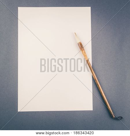 Chinese Calligraphy Brush For Traditional Writing. Square