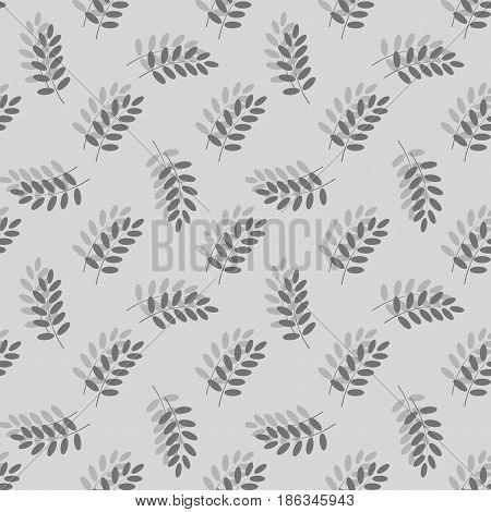 Leaf seamless pattern. Fashion graphic background design. Modern stylish abstract texture. Monochrome template for prints textiles wrapping wallpaper website. Design element. Vector illustration