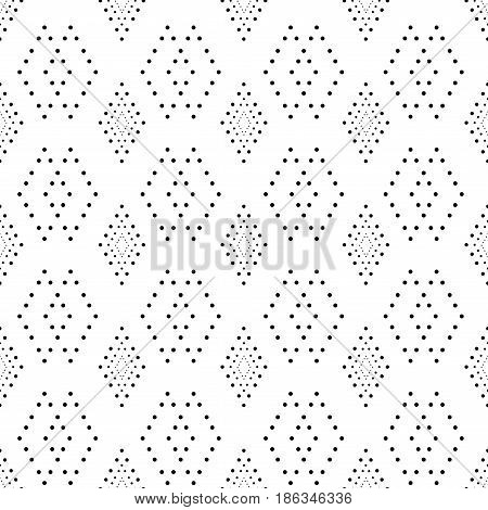Rhombus seamless pattern. Fashion graphic background design. Stylish abstract texture. Monochrome template for prints textiles wrapping wallpaper website. Design element. Vector illustration