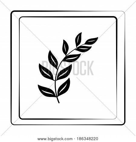Twig black in frame. Fashion graphic background design. Modern stylish abstract texture. Monochrome template for prints textiles wrapping wallpaper website. Design element. Vector illustration