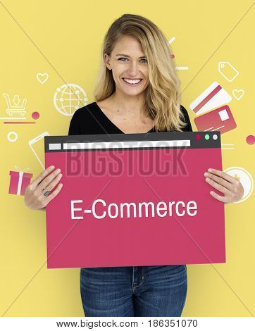 Online Purchase Payment Commerce Concept