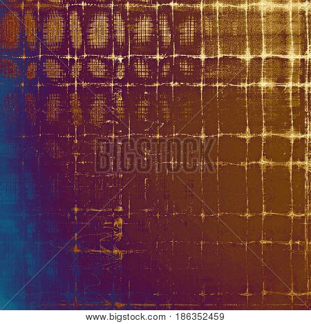 Grunge background or texture with vintage frame design and different color patterns: yellow (beige); brown; blue; red (orange); purple (violet); pink