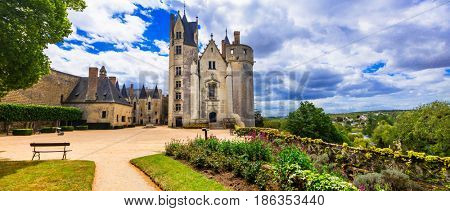 Majestic medieval castles in Loire valley - Chateau de Montreuil bellay, France