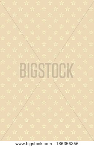 Abstract light beige modern seamless pattern with gold stars. Abstract light beige modern seamless pattern with gold stars. The Christmas stellar background. Vector seamless background