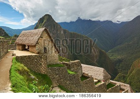 Inca House In Machu Picchu