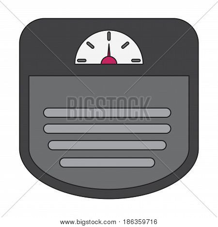Icon in flat design Sports scales control