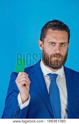 Man With Blank Business Card