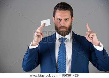 Businessman With Business Or Credit Card, Business Ethics
