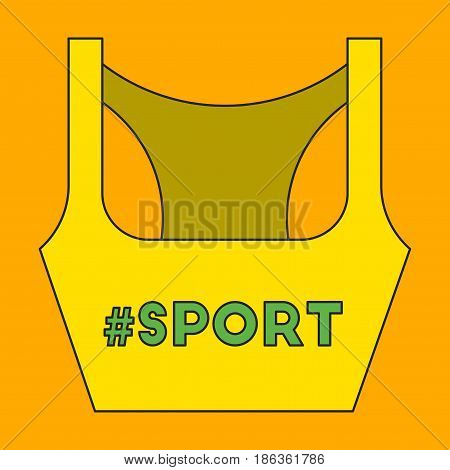 Icon in flat design Sports top fitness